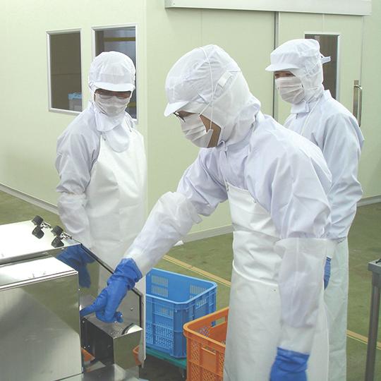 HACCPやISOの基準を遵守した作業